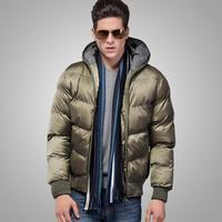 Free Shipping Men's black Waterproof parka Men's Coat for winter New Fashion 2013 Top quality M-XXXL