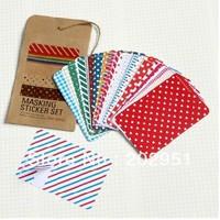 Masking sticker paper /vintage file bag multi-functional paper tape /27pcs a set /poster sticker photography props novelty items