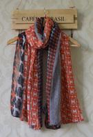 Scarfs fashion style designer 2013,Free shipping,long Women shawl,geometry print,Chain print,viscose hijab,designer scarf