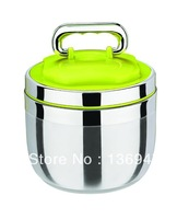 High Quality Food Grade stainless steel thermal food container /lunch box 1.4L with colourful cover-keep warm for 6-8 hours