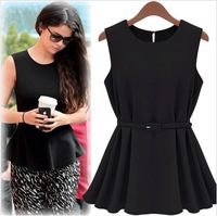 2013 summer new European and American professional women clothing fashion pleated short skirt dress child small