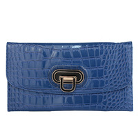 Glossy 2013 serpentine pattern day clutch PU solid color women's envelope bag handbag