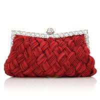 2013 day clutch bag ladies diamond evening clutch bag with diamond women's rhinestone red bridal bag