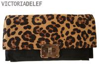 2013 fashion clutch sexy leopard print day clutch bag envelope bag one shoulder small bag messenger bag