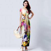 2013 summer one-piece dress ladies elegant bohemia full dress print fashion