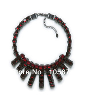 2013 Newest Design Z Brand Red Glass Necklace for Women High Quality Factory Dropshipping with good quality