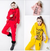 2013 autumn and winter Weomen's Leisure suit fleece sweatshirt thickening pullover Sport suit  Sweater Suit Free shipping