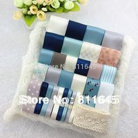 Free shipping 30 YDS Mixed 30 style satin / grosgrain ribbon cartoon ribbons set