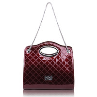 Crocodile women's cowhide handbag  fashion one shoulder handbag large capacity square plaid women's handbag