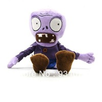 New lovely plants vs zombies plush toy doll  Purple zombie