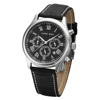 Langbao commercial genuine leather quartz watch waterproof mens watch chronograph