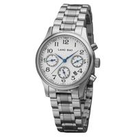 Langbao lady vintage women's watch stainless steel waterproof watch calendar multifunctional table