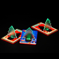 10 PCS Wholesale Free Shipping New Folding Multi-Color Pocket LED Card Light Lamp Bulb Christmas Tree Light