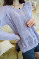 S 2013 autumn women's small fresh sweet cool knitted pullover