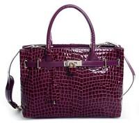 Free Shipping women's genuine leather handbag female  fashion crocodile pattern leather designer shoulder bag cross-body handbag