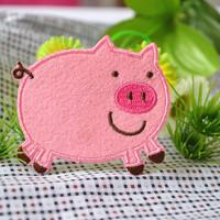 Embroidery fabric Large big dress patch applique cartoon flower bedding handmade cbd cloth pig  z3