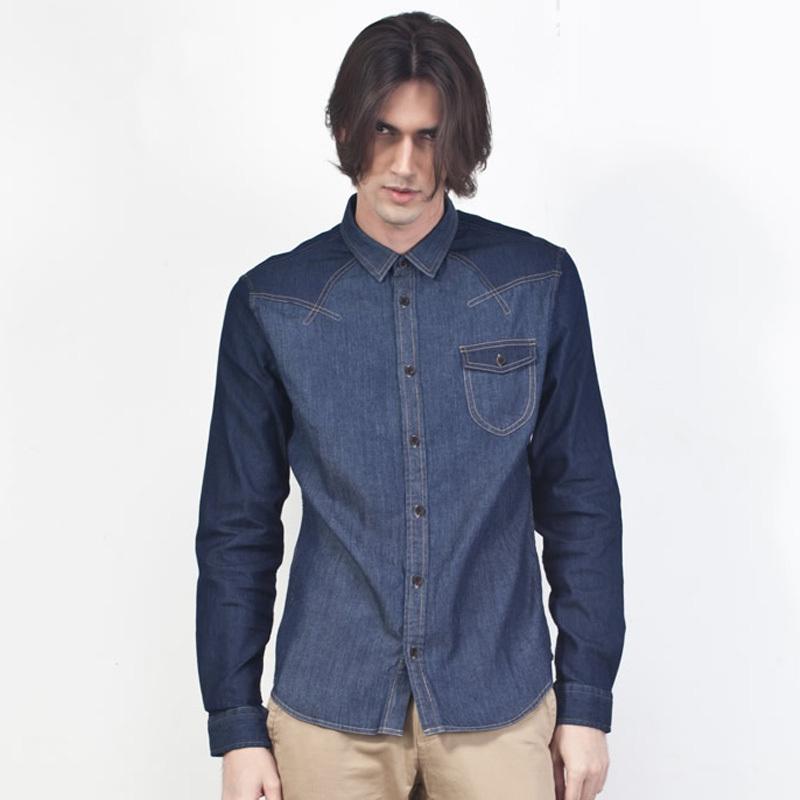 Casual Jeans Shirts For Men Mens Casual Denim Shirt