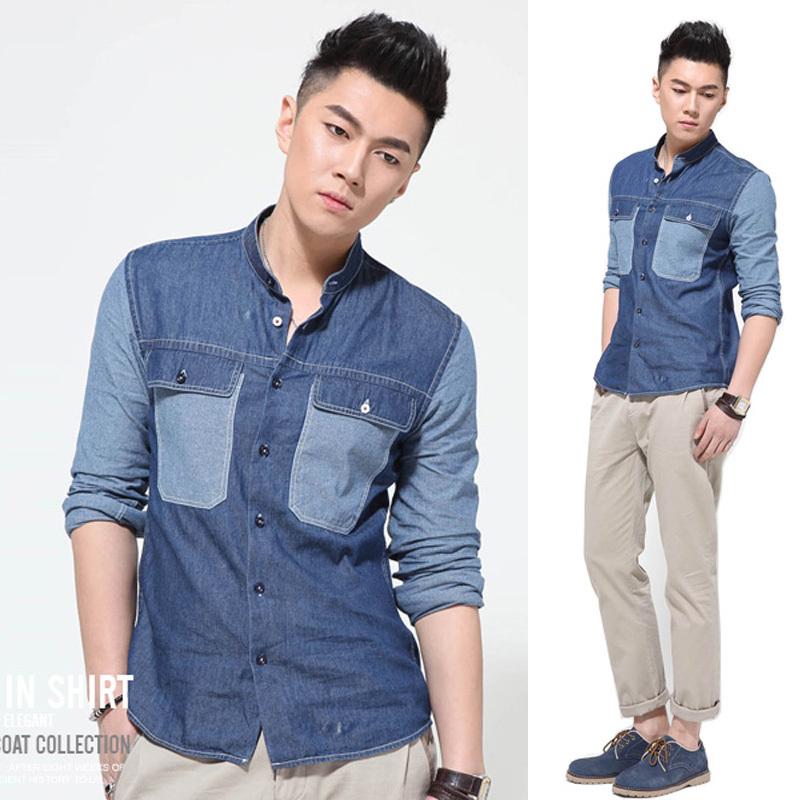 Mens Wear Jeans Jeans Shirts For Men
