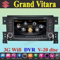 "7"" Car DVD Player autoradio GPS for Suzuki Grand Vitara + 3G WIFI + V-20 Disc + 1GB cpu + DDR 512M RAM + DVR + A8 Chipset"