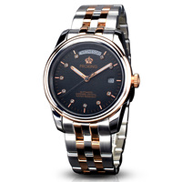 Proking Stainless Steel Double Calendar Waterproof Needle Junior Luminous Commercial Fully-automatic Mechanical Watches
