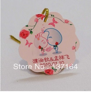 Wholesale Die Cut DIY Customize Logo Hang tag Logo Garment Label with free string customized Hang tags with 3000 strings(China (Mainland))