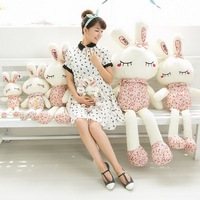 55cm Beauty rabbit Floral pattern Lovely rabbit Doll rabbit Plush toy doll Birthday gift