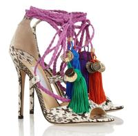 Brand Fashion Olivia Dream Ankle Rop Tie Elaphe Peep Toe High Heels Sandals 2013 Platform Python Pumps Women Prom Dress Shoes