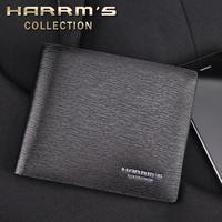 free shiping Male wallet male horizontal short design genuine leather wallet men's multi card holder wallet
