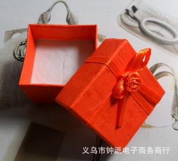 Pink 4cm square ring box earring box wholesale