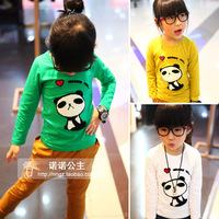 Princess children's clothing 2013 spring and autumn pattern embroidered towel long-sleeve T-shirt male child t-shirt female
