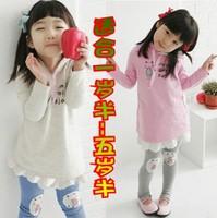 2 set spring and autumn female long-sleeve child set cat casual set girl sweatshirt spring
