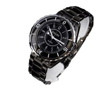 SINOBI New Fashion Men's Stainless Steel Wrist Watch Quartz Black WTH0041