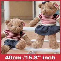 Low price plush toys plush bear Sweater bear teddy bear gifts Stuffed Animals 40cm /15.8'' inch Free shipping
