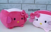 10PCS Plush Stuffed Toy DOLL Kawaii Hello Kitty Tofu Shape; Cell Mobile Phone Stand Holder Case Pouch Bag