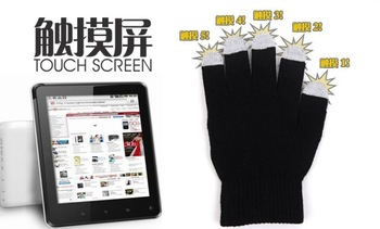 mixed 3 colors 5 fingers both work skull Touchs creen gloves warm winter gloves for iphone 5c 5s samsung galaxy Note s3 s4