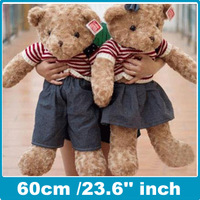 High quality Teddy bear Cloth doll plush bears suffed toys the best gift 60cm /23.6'' inch Free shipping