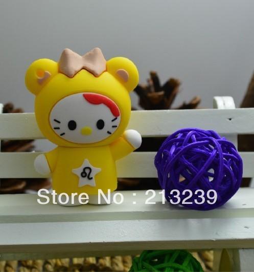 Wholesales New Cartoon Yellow Kitty Cat Model usb 2.0 memory flash stick pen drive/disk(China (Mainland))