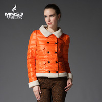 FREE SHIPPING Berber fleece women's short down coat 2826 design