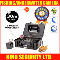 "7"" LCD Color Underwater Vedio Fishing Camera System With 30m Cable, Underwater Camera With 420TVL CCD Camera Freesip"