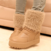 Winter Slip-resistant waterproof winter snow boots cashmere warm rubber boots female shoes boots