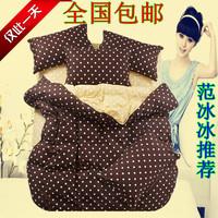 100% cotton polka dot quality 4 100% cotton sheets duvet cover bedding piece set