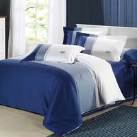 Solid color piece bedding set cotton 100% cotton bed sheets duvet cover 1.5 1.8 meters bed home textile bedding