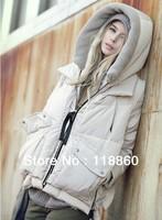 2013 new winter military women short down wear long sleeved casual jacket coat