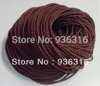 Free shipping 5m / Pcs + 2*0.75m^2  copper core  Edison lamp wire Dark coffee brown wire braided plug wire