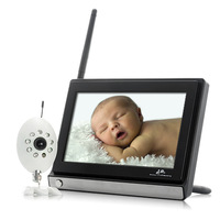 Baby Monitor Monitor Buddy Wireless 7 Inch Widescreen LCD Night Vision Camera