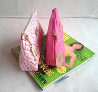 Big sell 1pcs VS Canvas High-grade Gold Hardware Makeup Bag Cosmetic Bag Free Shipping