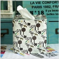 Square decoration tissue box leather box iron tissue paper towel tube pumping roll paper tube tissue storage box