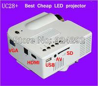 New !! UC28+ with HDMI Mini Micro AV LED Digital Video Game Projectors Native 320 X 240 Multimedia player Inputs AV VGA USB SD