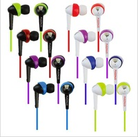 2PCS/Lot New 2014 3.5MM Stereo In Ear Earphones Headphones For Mobile Phone HTC/THL/MP3/MP4/MP5/Ebook Colorful 1.2M