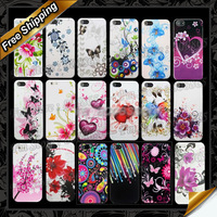 5C Flower tpu case, New Flower Soft TPU back Case For apple iphone 5C By DHL Free shipping
